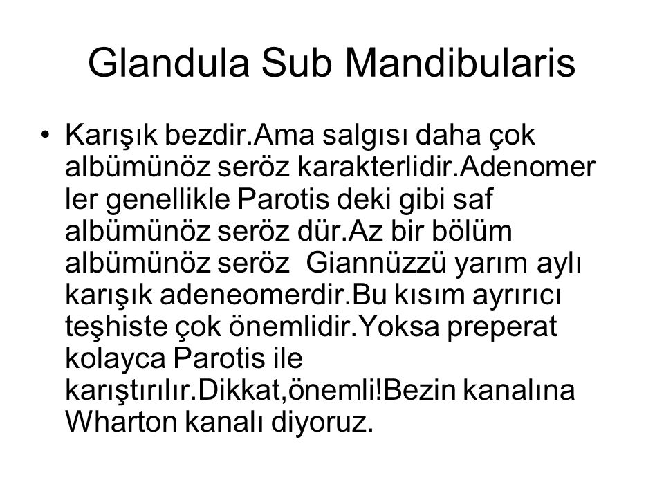 Glandula Sub Mandibularis