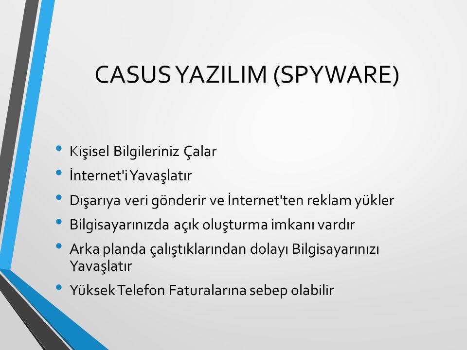 CASUS YAZILIM (SPYWARE)
