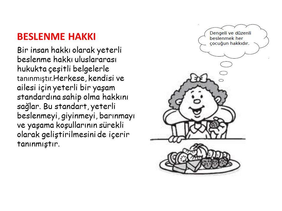 BESLENME HAKKI