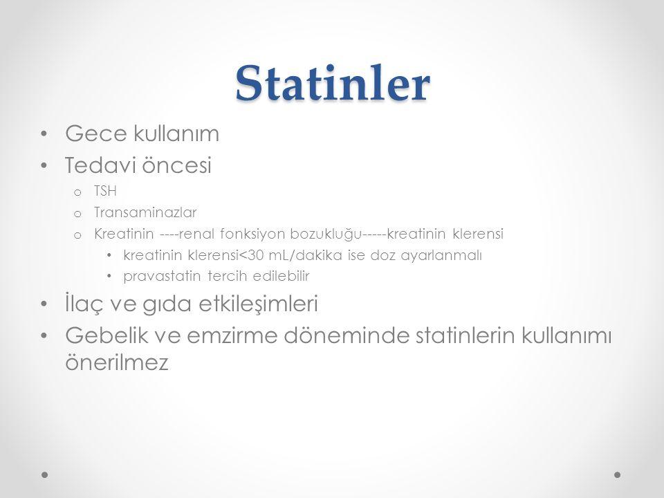 Statinler Gece kullanım Tedavi öncesi İlaç ve gıda etkileşimleri