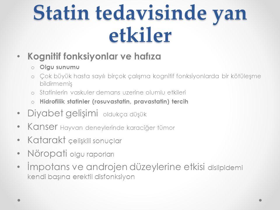 Statin tedavisinde yan etkiler