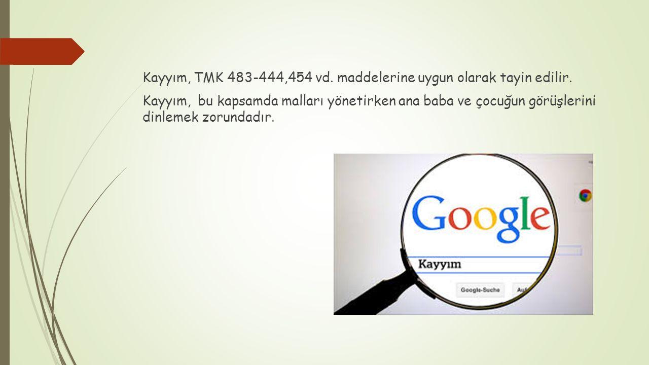 Kayyım, TMK 483-444,454 vd. maddelerine uygun olarak tayin edilir