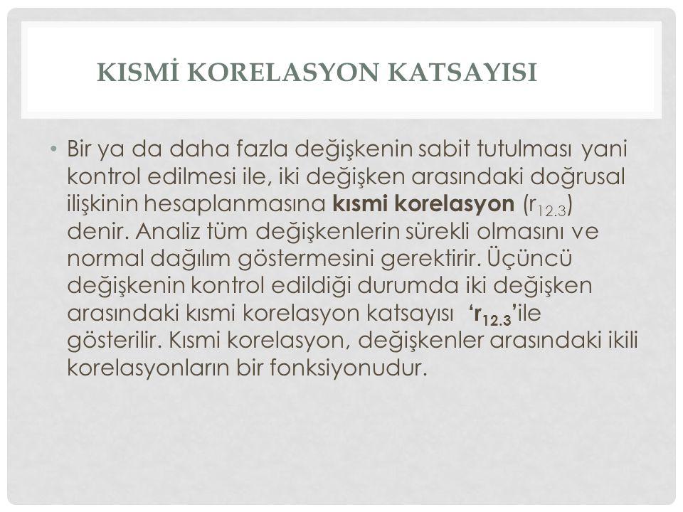 KISMİ KORELASYON KATSAYISI