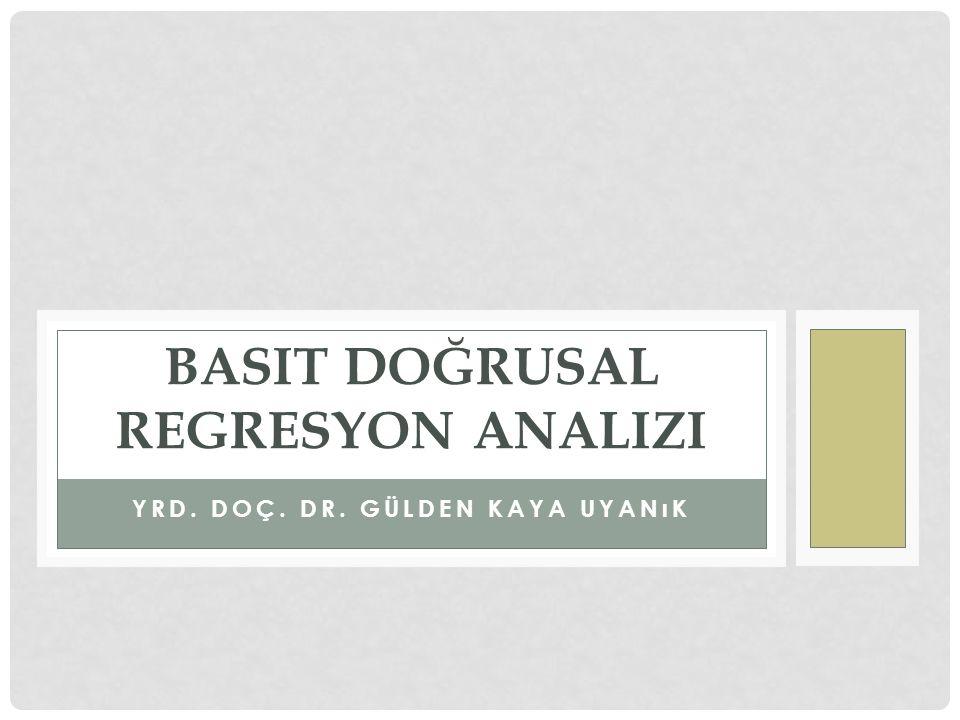 Basit doğrusal regresyon analizi