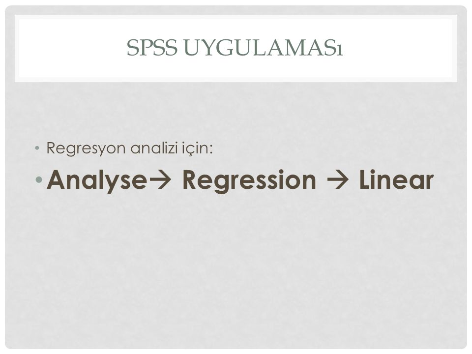 Analyse Regression  Linear