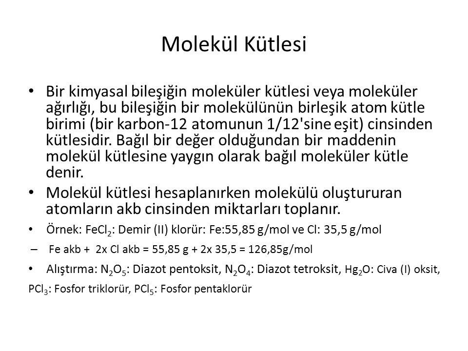 Molekül Kütlesi