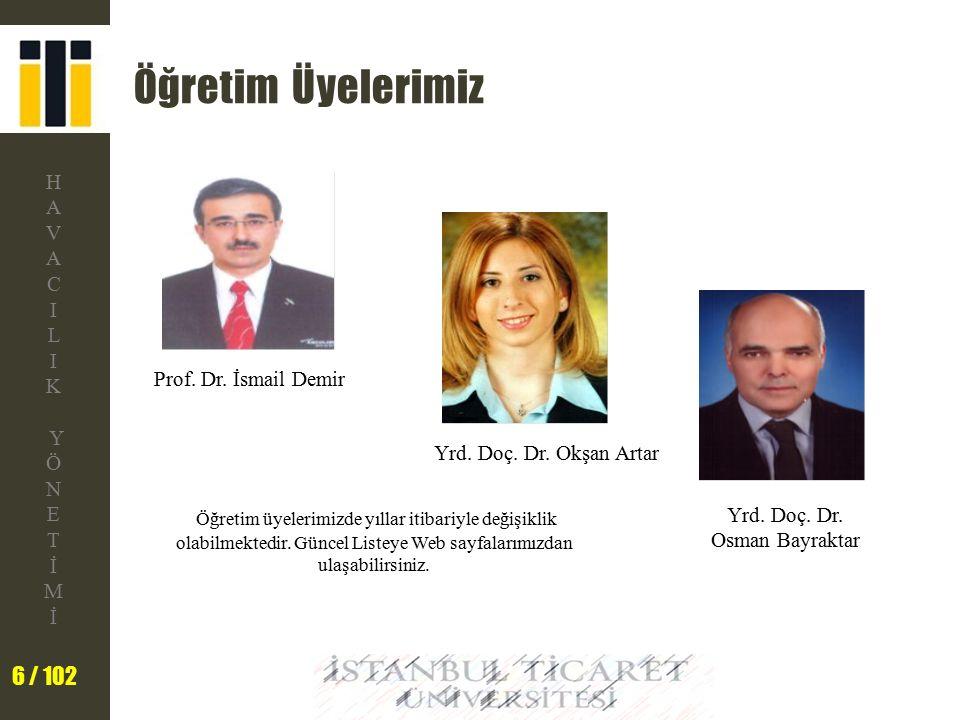 Öğretim Üyelerimiz Prof. Dr. İsmail Demir. Yrd. Doç. Dr. Okşan Artar.