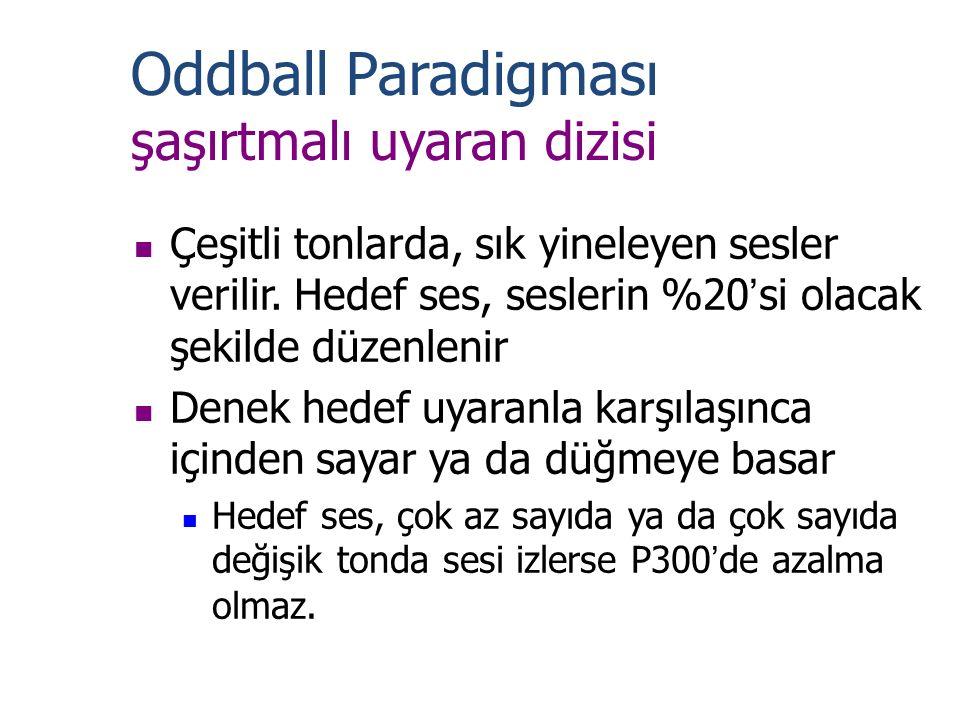 Oddball Paradigması şaşırtmalı uyaran dizisi