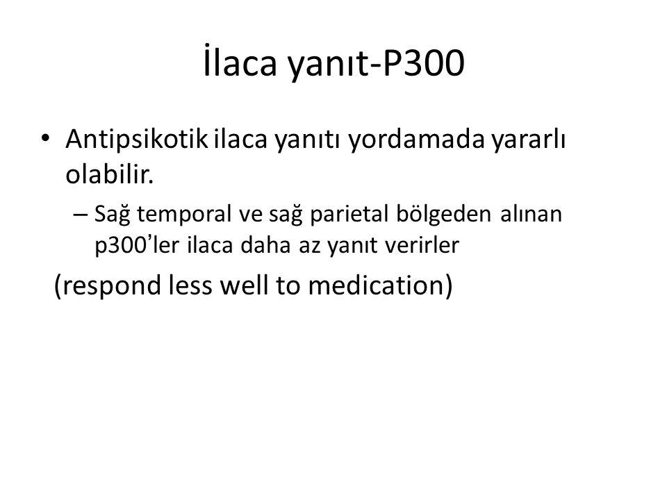 İlaca yanıt-P300 Antipsikotik ilaca yanıtı yordamada yararlı olabilir.