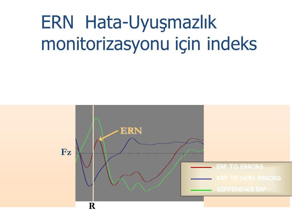 ERN Hata-Uyuşmazlık monitorizasyonu için indeks