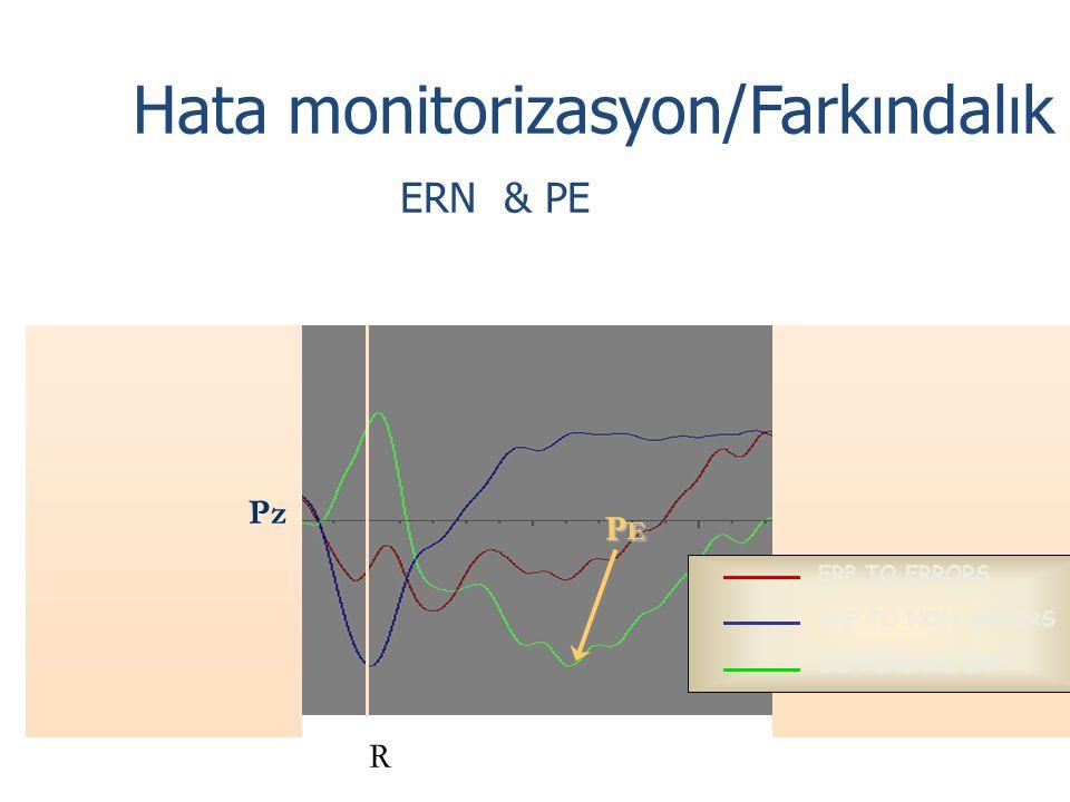 Hata monitorizasyon/Farkındalık ERN & PE