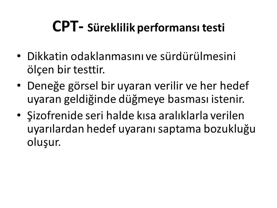 CPT- Süreklilik performansı testi