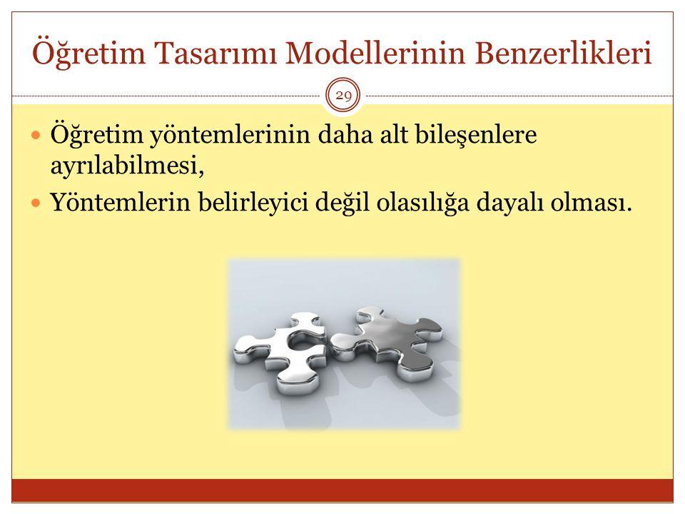 Öğretim Tasarımı Modellerinin Benzerlikleri