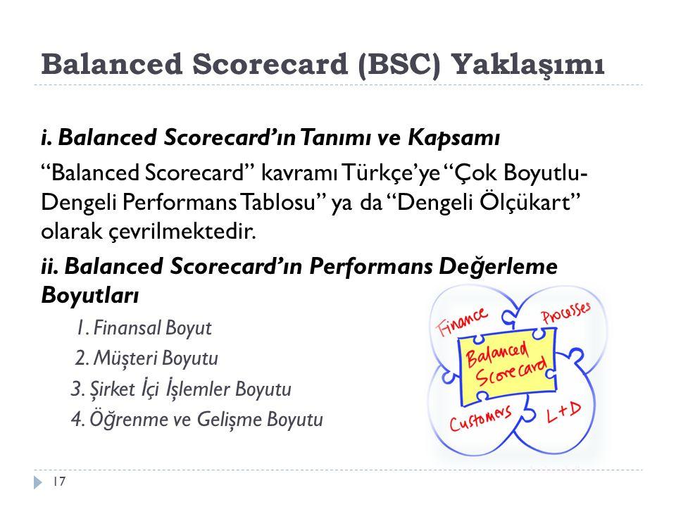 Balanced Scorecard (BSC) Yaklaşımı