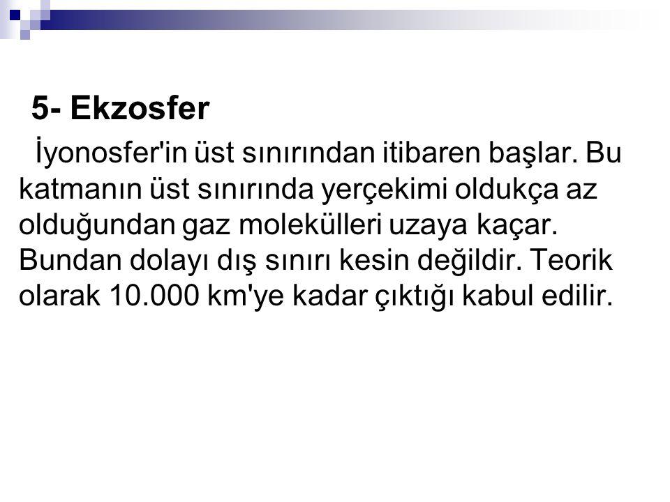 5- Ekzosfer