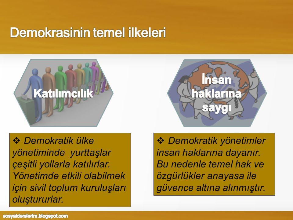 Demokrasinin temel ilkeleri
