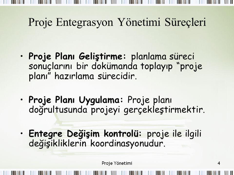 Proje Entegrasyon Yönetimi Süreçleri