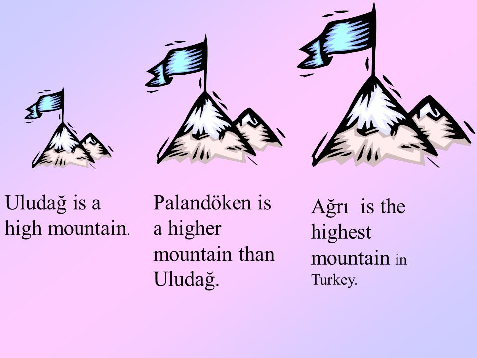 Uludağ is a high mountain.