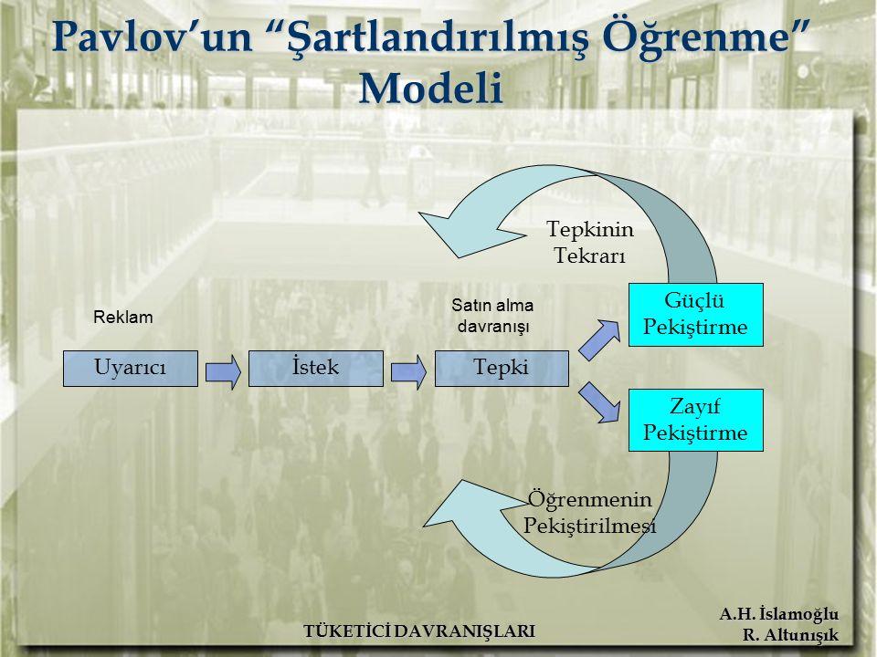 Pavlov'un Şartlandırılmış Öğrenme Modeli