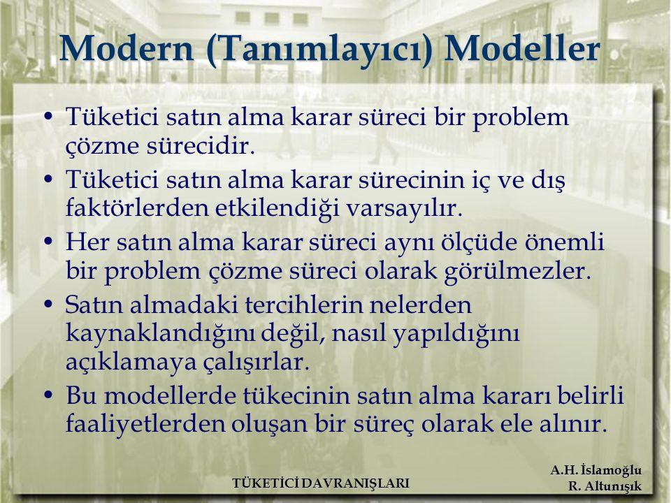 Modern (Tanımlayıcı) Modeller