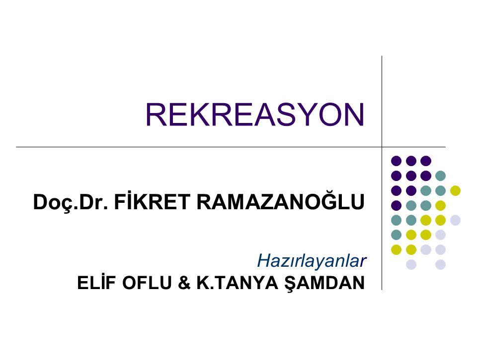Doç.Dr. FİKRET RAMAZANOĞLU Hazırlayanlar ELİF OFLU & K.TANYA ŞAMDAN