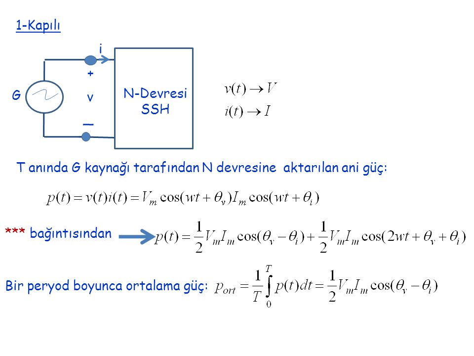 _ 1-Kapılı i + N-Devresi G v SSH