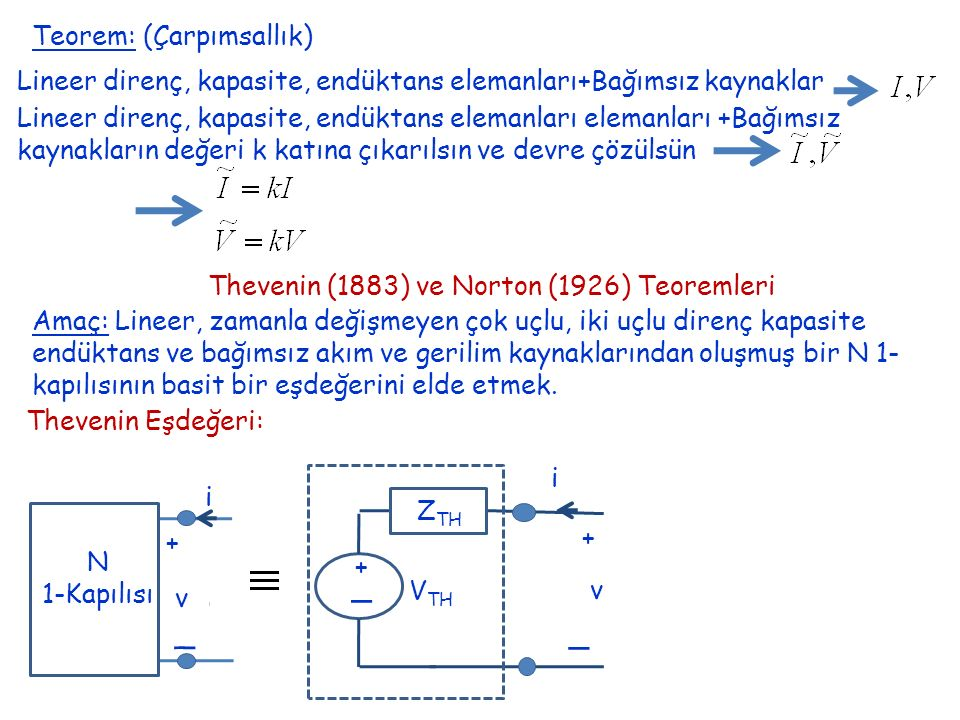 Thevenin (1883) ve Norton (1926) Teoremleri