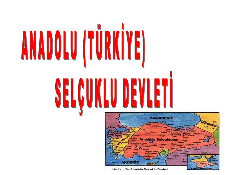 ANADOLU (TÜRKİYE) SELÇUKLU DEVLETİ