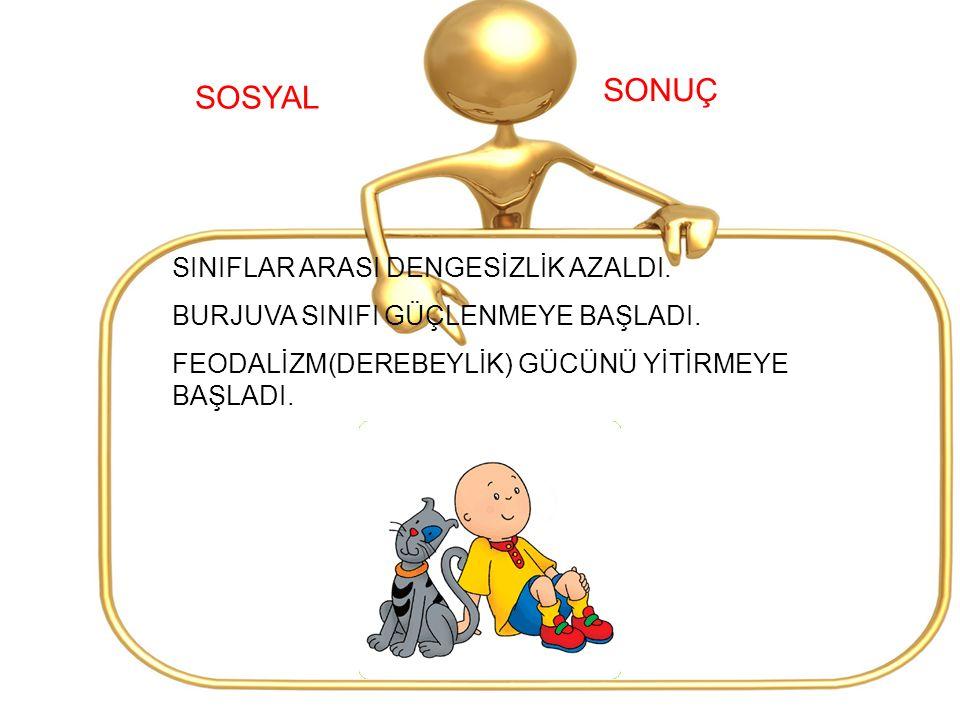 SONUÇ SOSYAL SINIFLAR ARASI DENGESİZLİK AZALDI.
