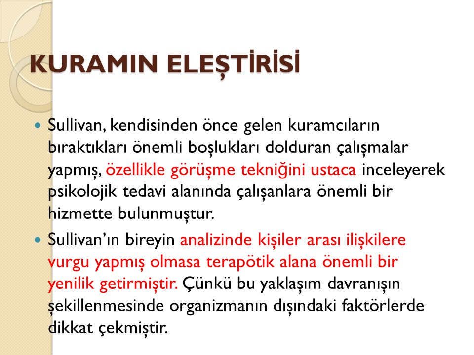 KURAMIN ELEŞTİRİSİ