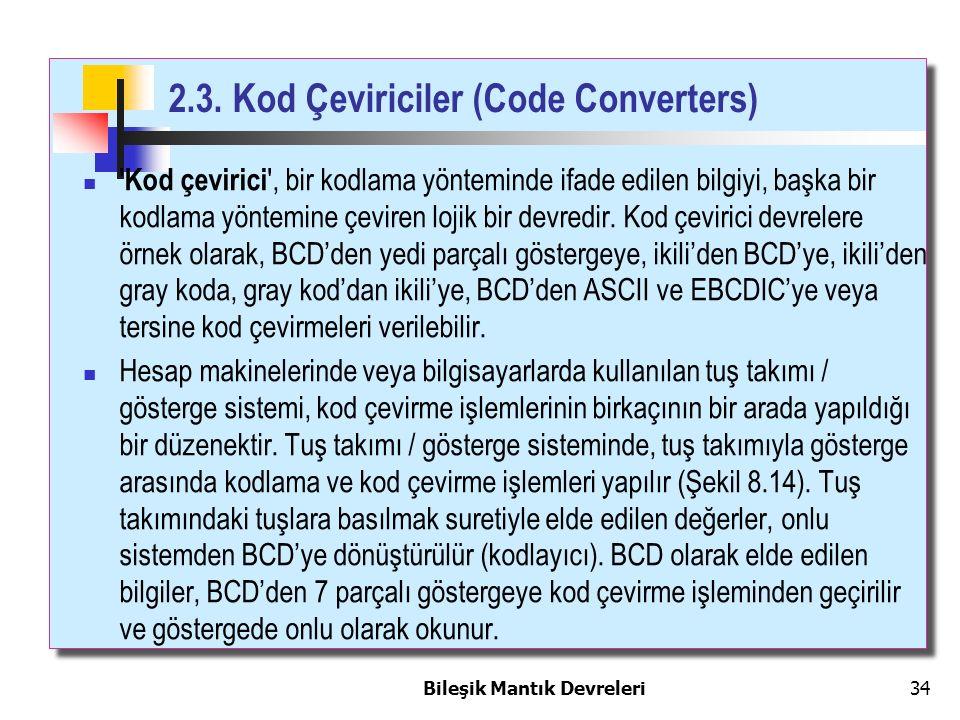 2.3. Kod Çeviriciler (Code Converters)