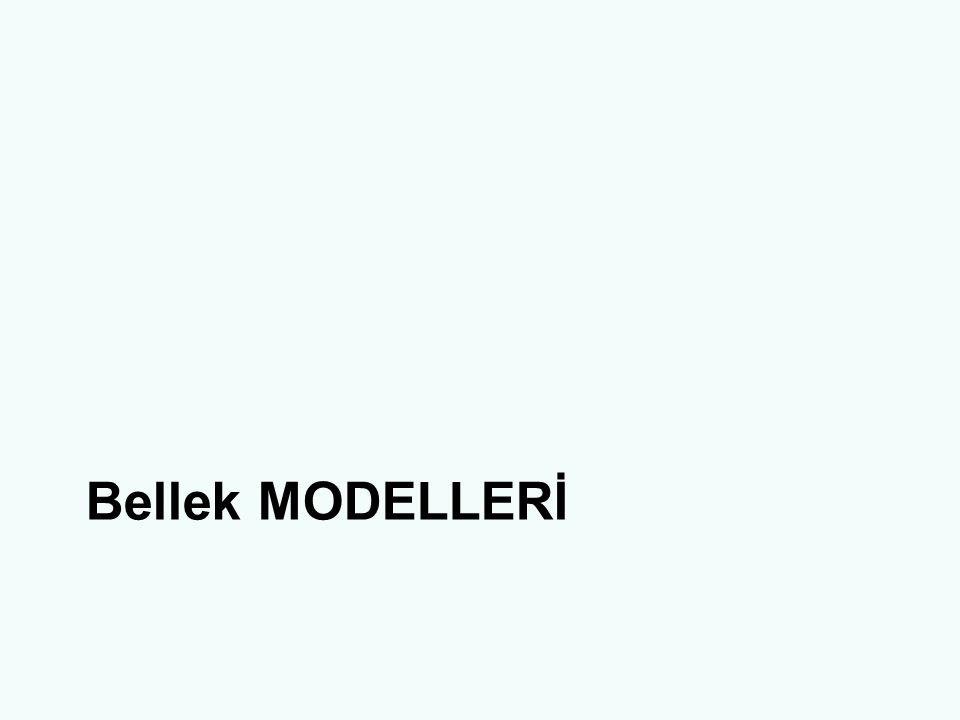 Bellek MODELLERİ
