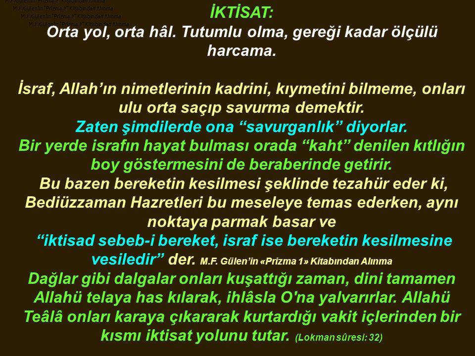 M.F.Gülen'in Prizma 1 Kitabından Alınma