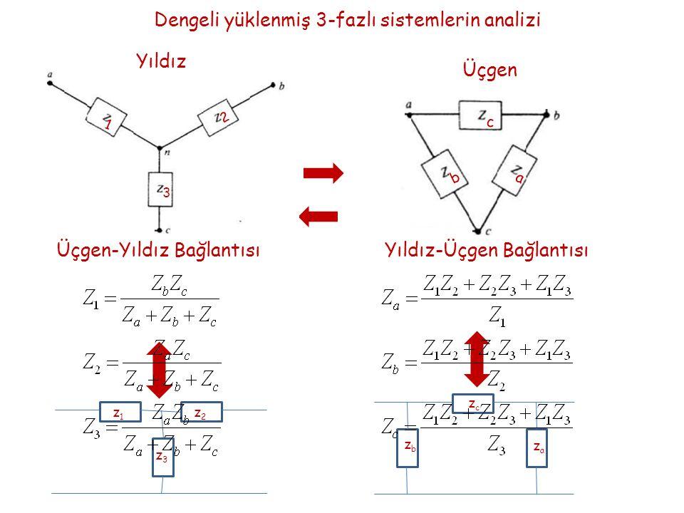 Dengeli yüklenmiş 3-fazlı sistemlerin analizi