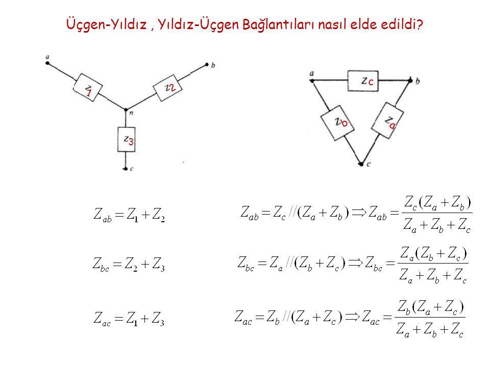 Üçgen-Yıldız , Yıldız-Üçgen Bağlantıları nasıl elde edildi