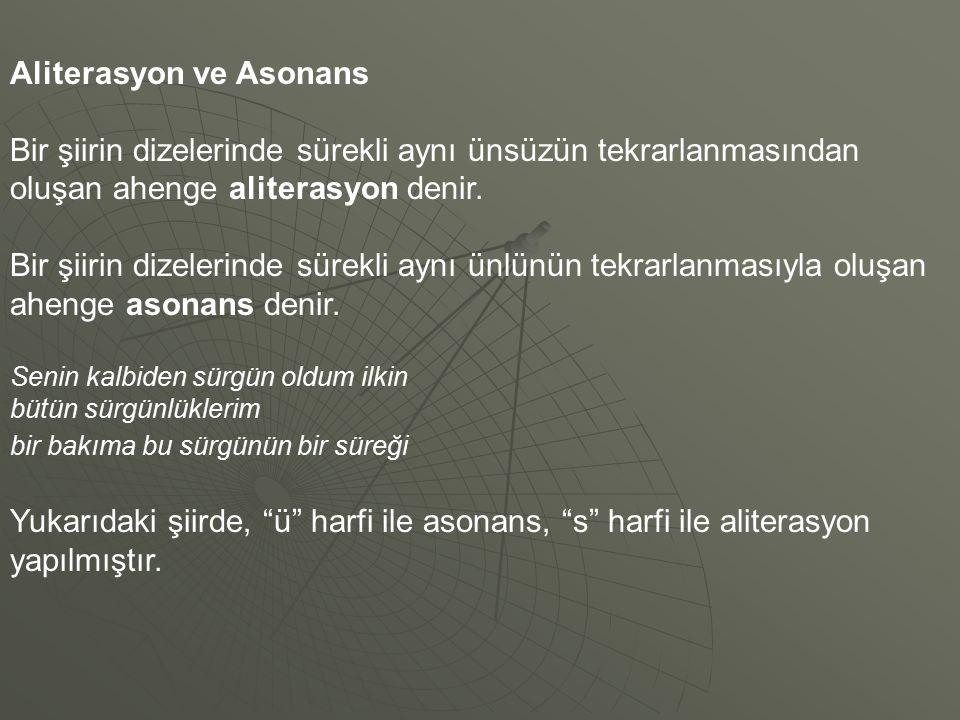 Aliterasyon ve Asonans