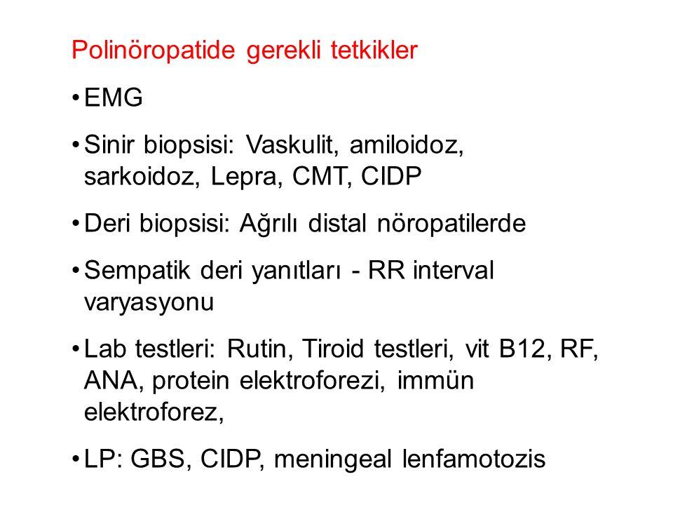 Polinöropatide gerekli tetkikler