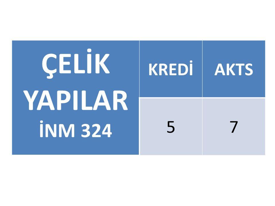 ÇELİK YAPILAR İNM 324 KREDİ AKTS 5 7