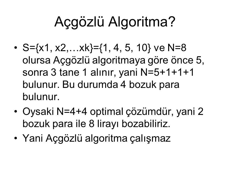 Açgözlü Algoritma
