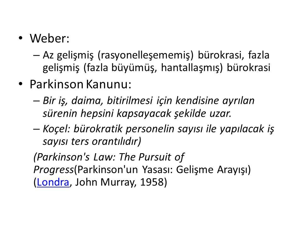 Weber: Parkinson Kanunu: