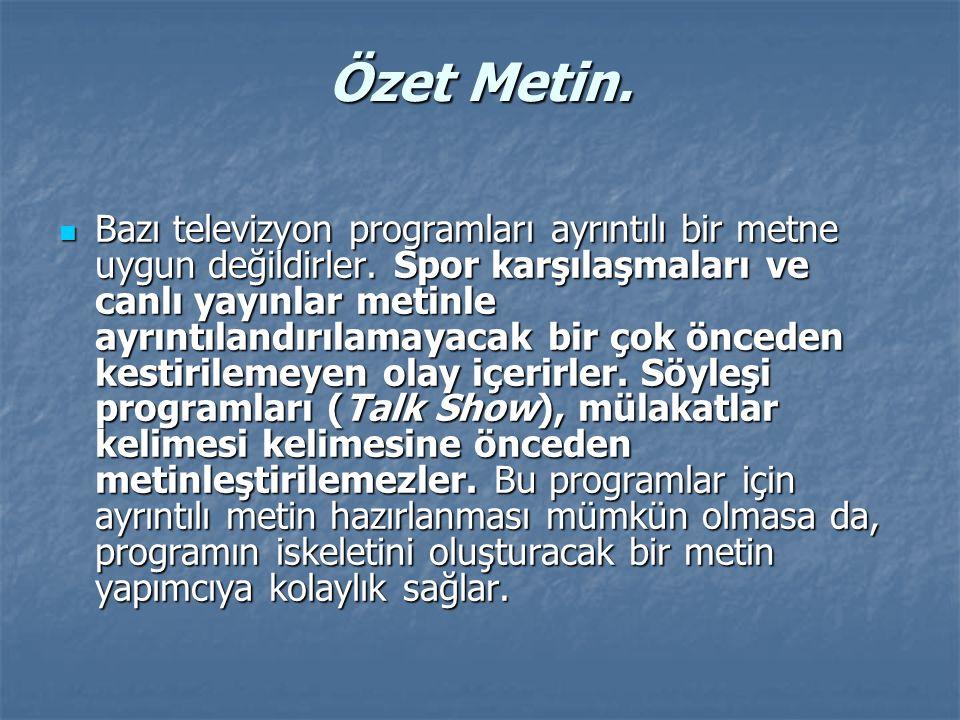 Özet Metin.
