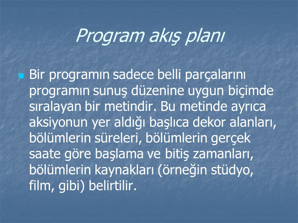 Program akış planı
