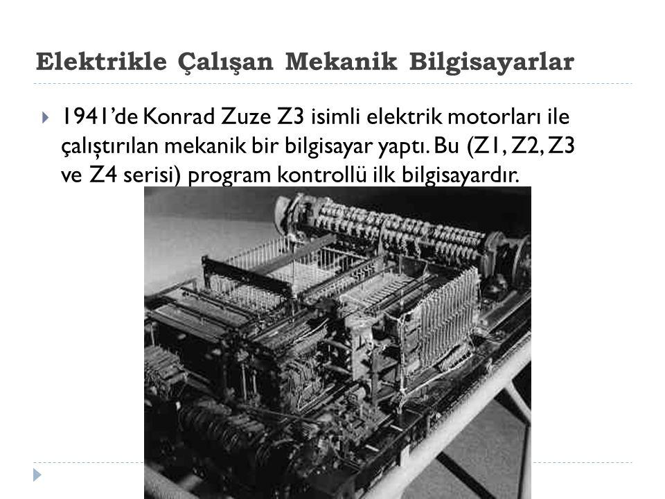 Elektrikle Çalışan Mekanik Bilgisayarlar