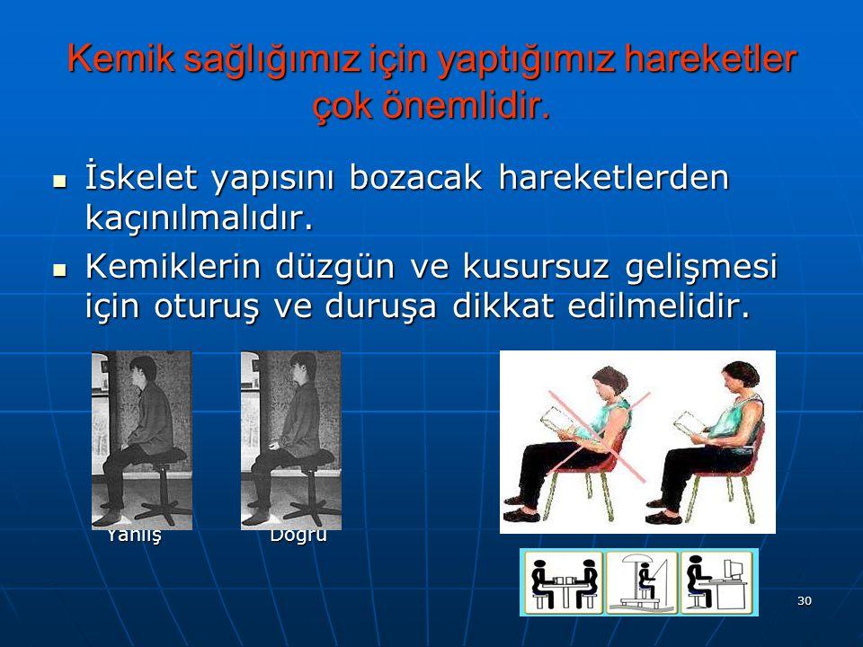 Kemik sağlığımız için yaptığımız hareketler çok önemlidir.