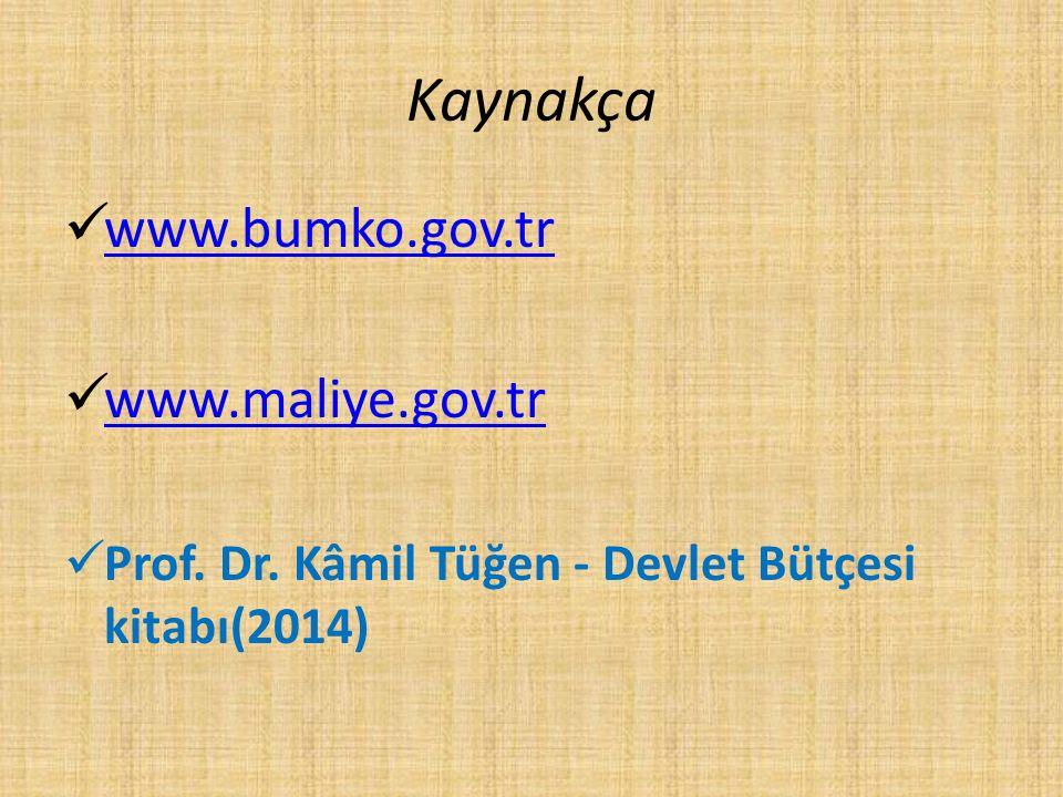 Kaynakça www.bumko.gov.tr www.maliye.gov.tr