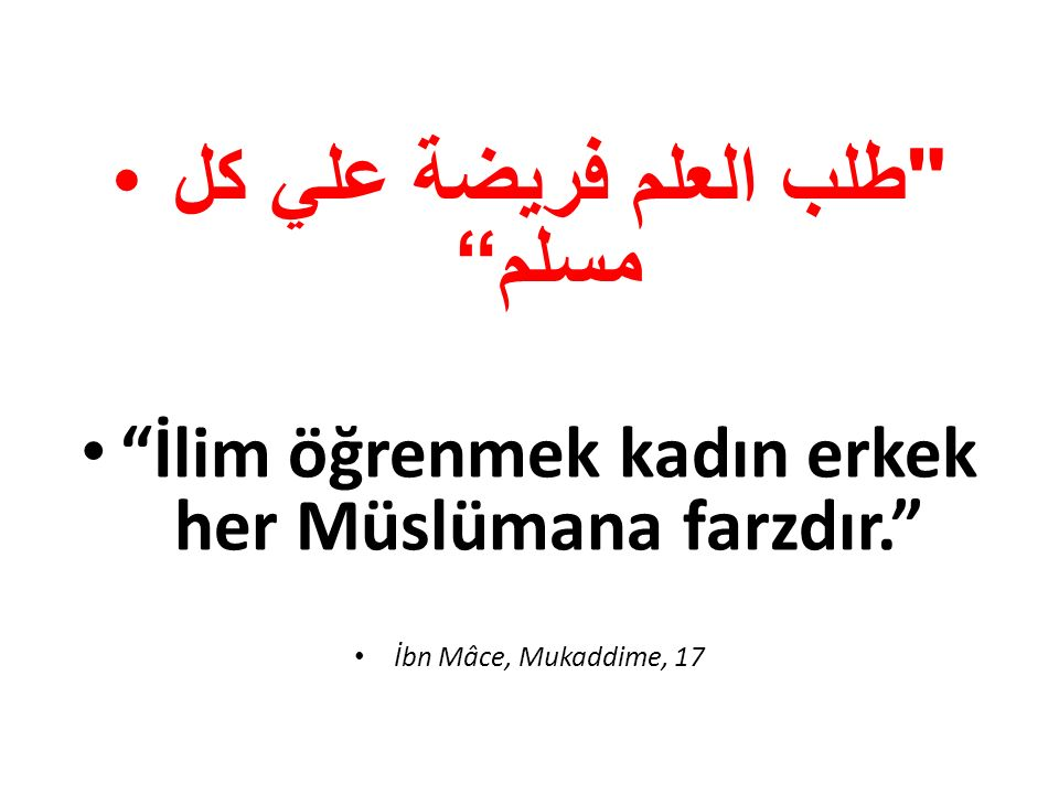 طلب العلم فريضة علي كل مسلم