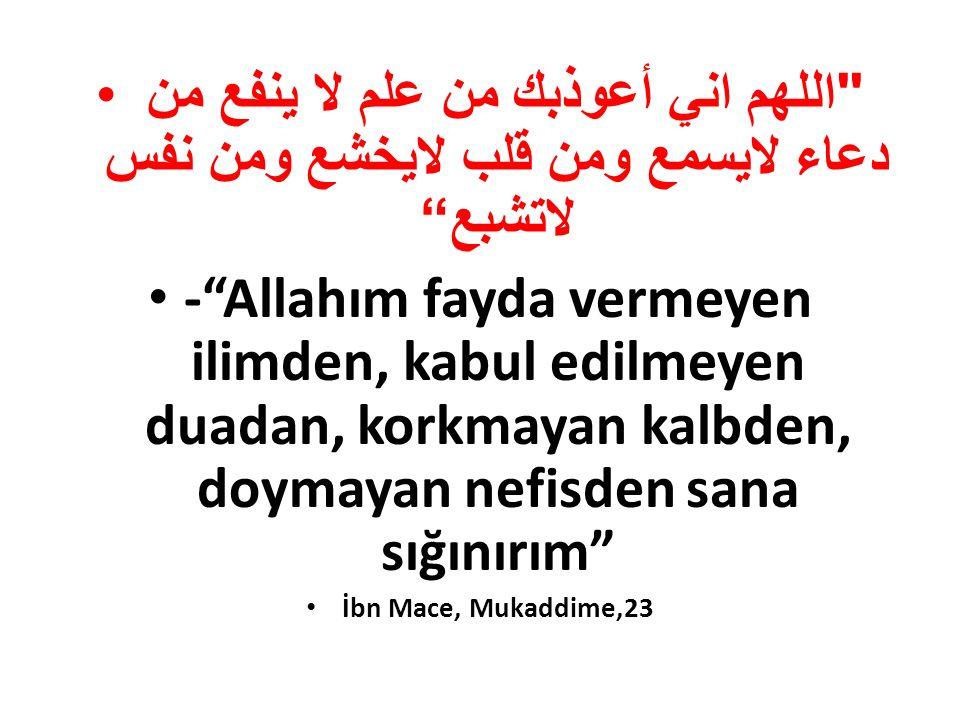 اللهم اني أعوذبك من علم لا ينفع من دعاء لايسمع ومن قلب لايخشع ومن نفس لاتشبع