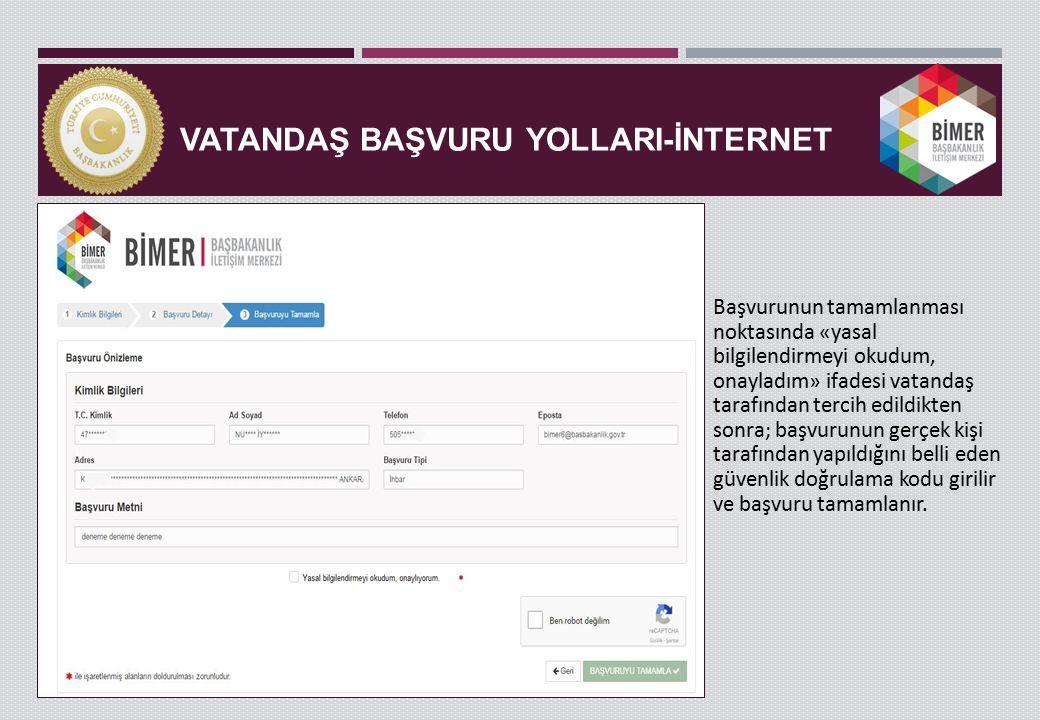VATANDAŞ BAŞVURU YollarI-İNTERNET