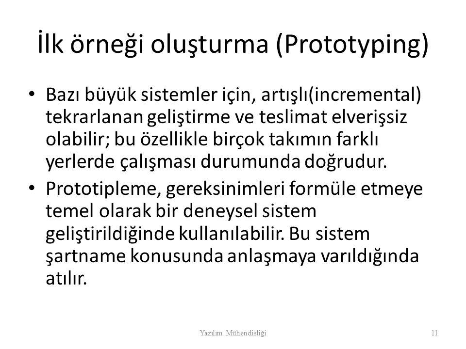 İlk örneği oluşturma (Prototyping)