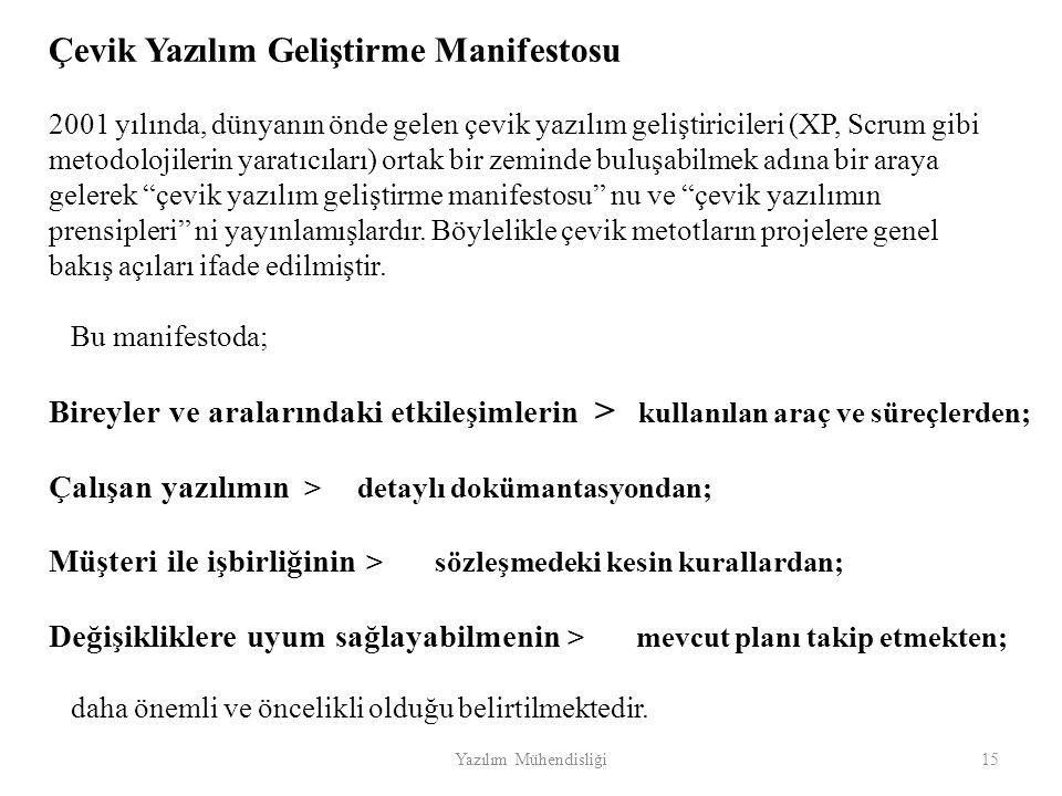 Çevik Yazılım Geliştirme Manifestosu